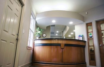 Front desk at Pure Smiles Dentistry.
