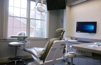 Treatment room at Pure Smiles Dentistry.