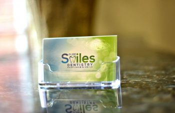 Pure Smiles Dentistry visit cards
