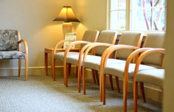 Waiting area at Pure Smiles Dentistry.